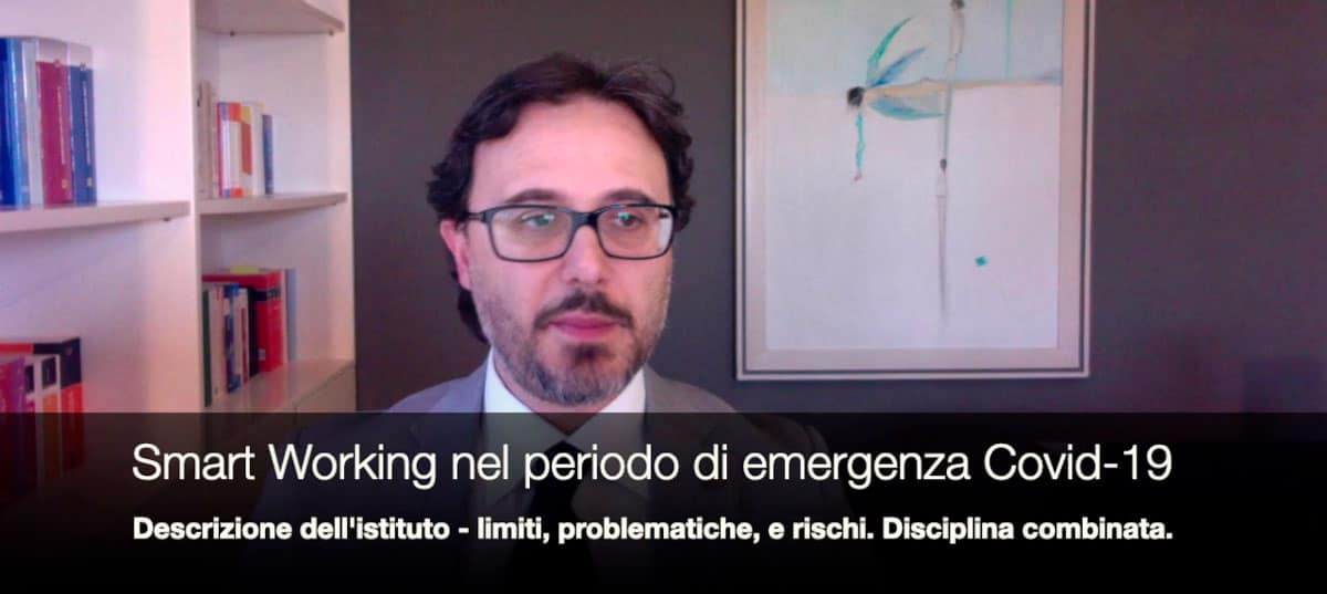 lo smart working durante l'emergenza covid